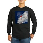 Santa Airlines Long Sleeve Dark T-Shirt