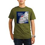 Santa Airlines Organic Men's T-Shirt (dark)