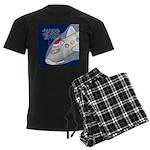 Santa Airlines Men's Dark Pajamas