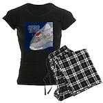 Santa Airlines Women's Dark Pajamas