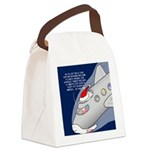 Santa Airlines Canvas Lunch Bag