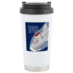 Santa Airlines Stainless Steel Travel Mug