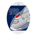 Santa Airlines Ornament (Oval)