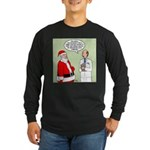 Santa's Tummy Tuck Long Sleeve Dark T-Shirt