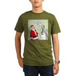Santa's Tummy Tuck Organic Men's T-Shirt (dark)