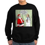 Santa's Tummy Tuck Sweatshirt (dark)