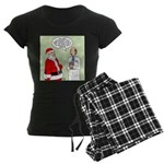 Santa's Tummy Tuck Women's Dark Pajamas