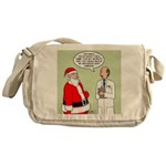Santa's Tummy Tuck Messenger Bag