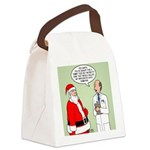 Santa's Tummy Tuck Canvas Lunch Bag