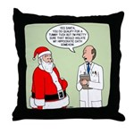 Santa's Tummy Tuck Throw Pillow