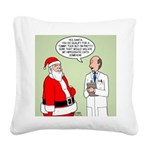 Santa's Tummy Tuck Square Canvas Pillow
