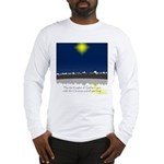 Christmas Star on Snowy Night Long Sleeve T-Shirt