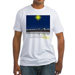 Christmas Star on Snowy Night Fitted T-Shirt
