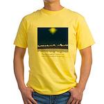 Christmas Star on Snowy Night Yellow T-Shirt