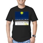 Christmas Star on Snowy Night Men's Fitted T-Shirt