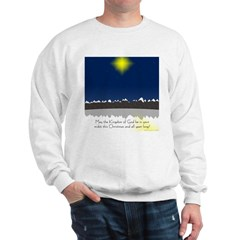 Christmas Star on Snowy Night Sweatshirt