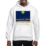 Christmas Star on Snowy Night Hooded Sweatshirt