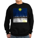 Christmas Star on Snowy Night Sweatshirt (dark)