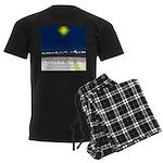 Christmas Star on Snowy Night Men's Dark Pajamas