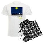 Christmas Star on Snowy Night Men's Light Pajamas