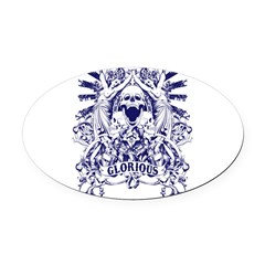 Glorious Oval Car Magnet