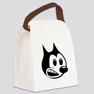 Cartoon Cat Canvas Lunch Bag