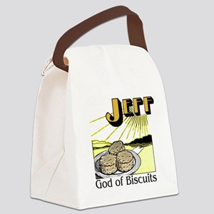 God of Biscuits Canvas Lunch Bag