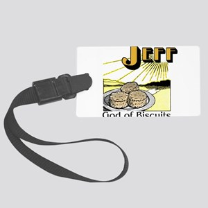 God of Biscuits Large Luggage Tag