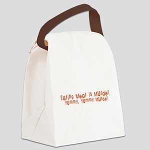 Eating meat is murder Canvas Lunch Bag