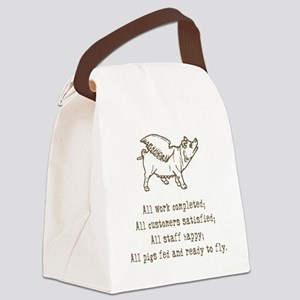 pigs ready to fly Canvas Lunch Bag