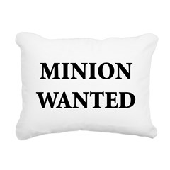 Minion Wanted Rectangular Canvas Pillow
