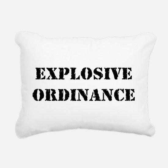 EXPLOSIVE ORDINANCE Rectangular Canvas Pillow