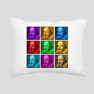 Shakespeare Pop Art Rectangular Canvas Pillow