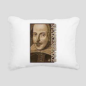 Droeshout's Shakespeare Rectangular Canvas Pillow
