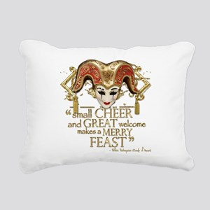 comedyoferrors-gold Rectangular Canvas Pillow