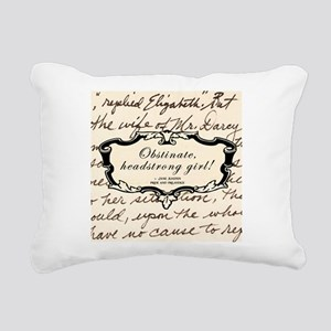 Obstinate Elizabeth Bennet Rectangular Canvas Pill