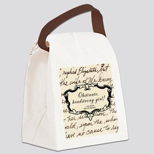 Obstinate Elizabeth Bennet Canvas Lunch Bag