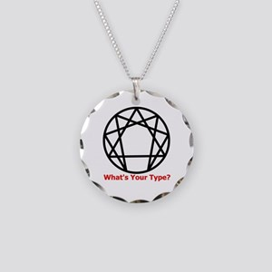 Enneagram Whats Your Type Necklace Circle Char