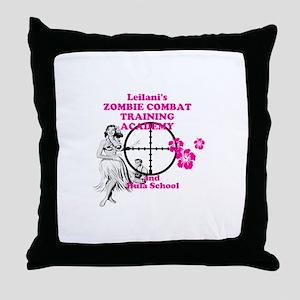 Hula Boot Camp Throw Pillow