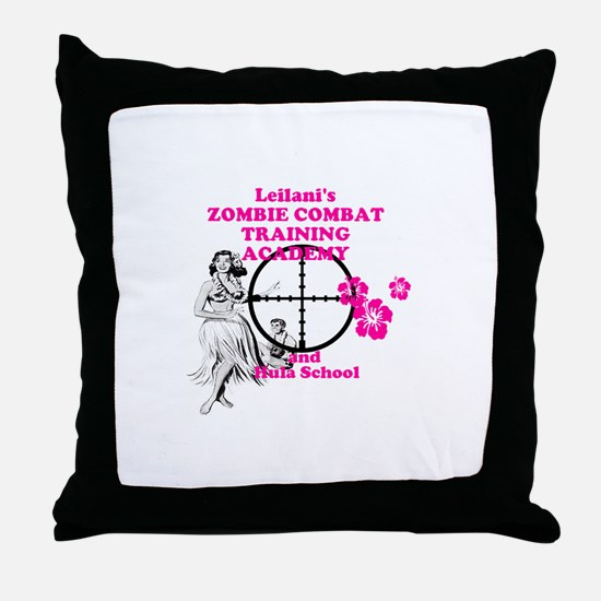 Hula Boot Camp Throw Pillow