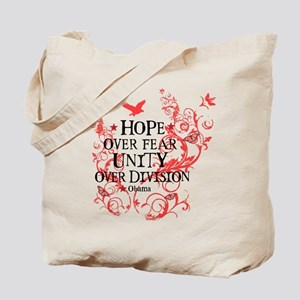 Obama Vine - Hope over Division Tote Bag