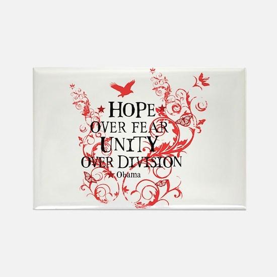 Obama Vine - Hope over Division Rectangle Magnet