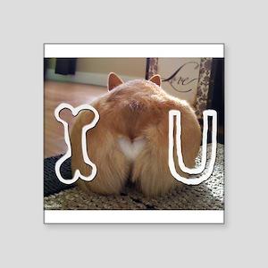 """Corgi Love Square Sticker 3"""" x 3"""""""