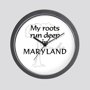 Maryland Roots Wall Clock