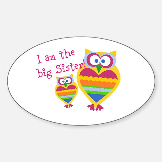 Big Sister ~Owls Sticker (Oval)