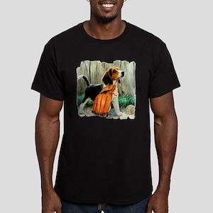 Beagle & Baseball 2 Men's Fitted T-Shirt (dark)
