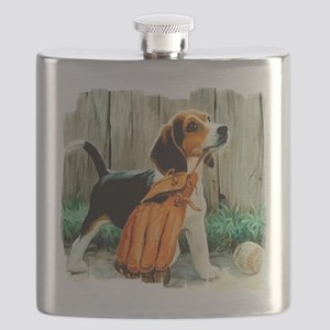 Beagle & Baseball 2 Flask