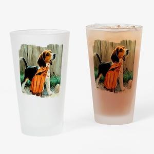 Beagle & Baseball 2 Drinking Glass
