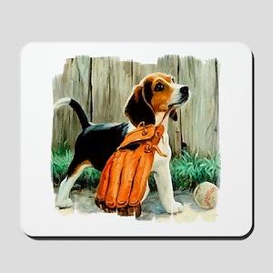 Beagle & Baseball 2 Mousepad