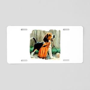 Beagle & Baseball 2 Aluminum License Plate